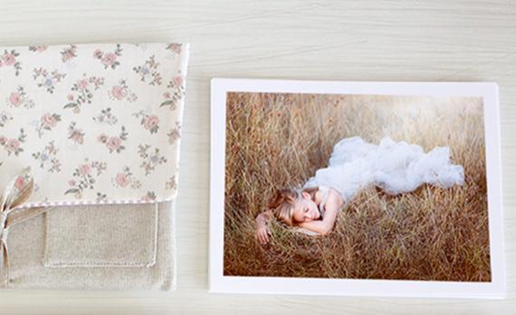 Sobre de tela con fotos impresas en papel de cotton. Varios tipos a elegir.
